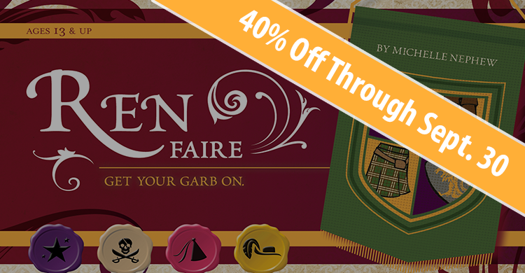 Ren Faire is 40% Off Through September 30