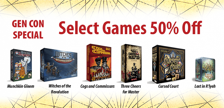 Six Games Are 50% Off This Weekend for Virtual Gen Con